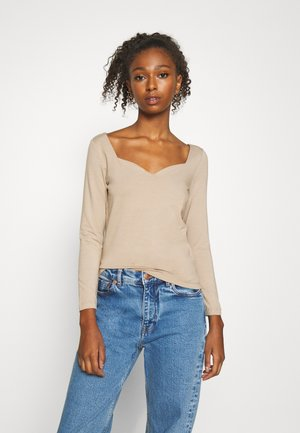 VMPANDA SWEETHEART - Long sleeved top - silver mink