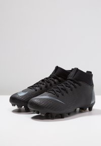 Nike Performance - MERCURIAL 6 ACADEMY MG - Moulded stud football boots - black/anthracite/black/light crimson - 3