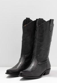 Felmini Wide Fit - GERBBERA - Cowboy/Biker boots - lavado black - 4
