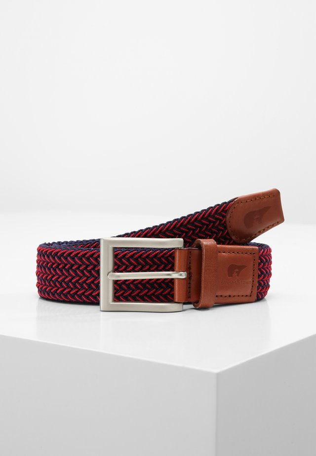 Braided belt - blue/red