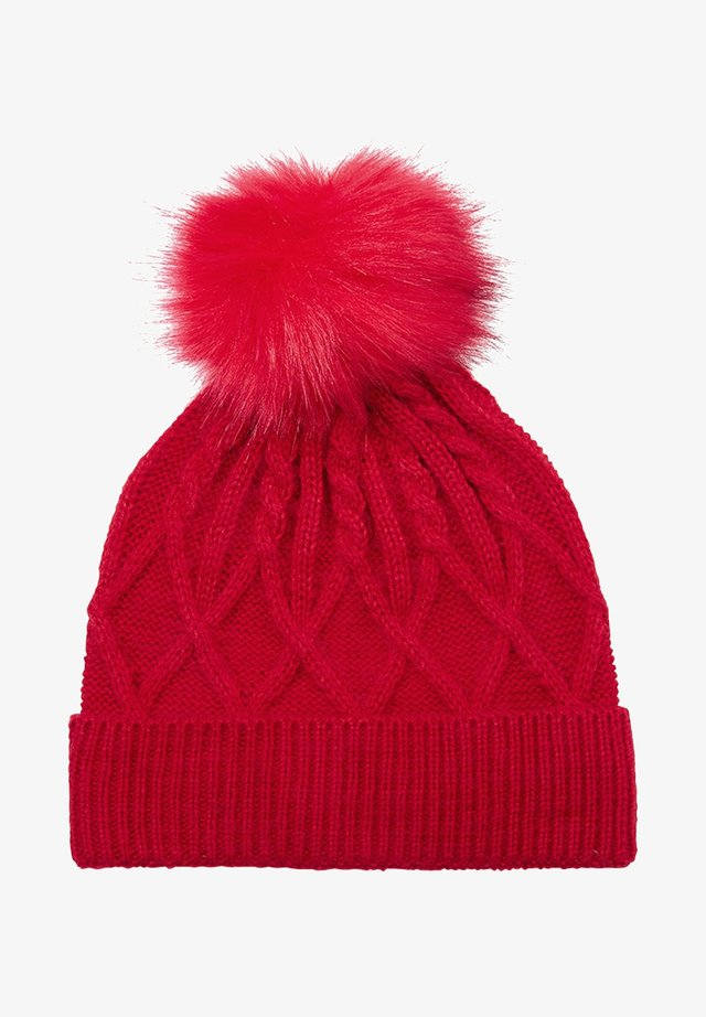 Beanie - poppy red