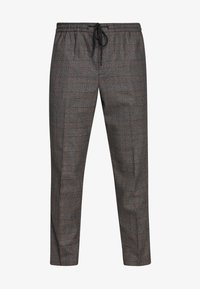 New Look - TRENDY TONAL CHECK PULL ON - Trousers - brown - 4