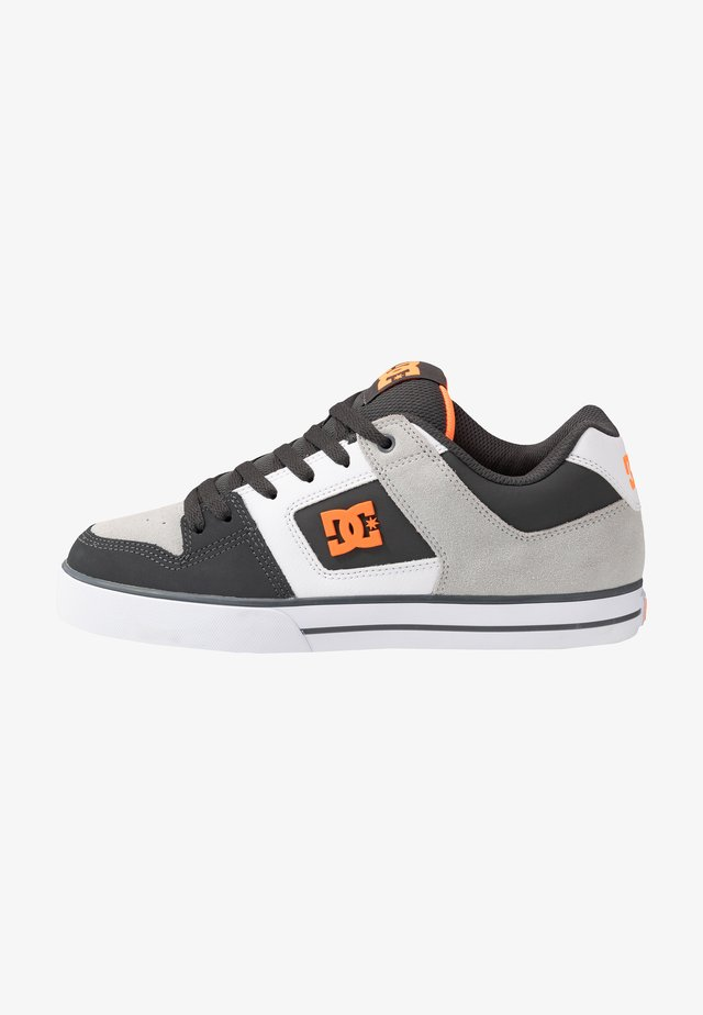 PURE - Zapatillas skate - dark grey/orange