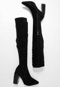 NA-KD - TIGHT SHAFT BLOCK BOOTS - Korolliset saappaat - black - 3