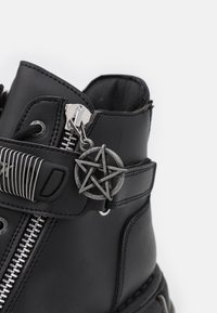 New Rock - UNISEX - Lace-up ankle boots - black - 5