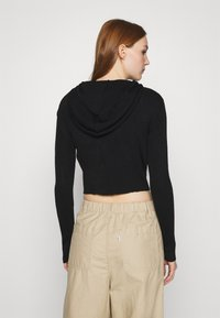 BDG Urban Outfitters - CROPPED ZIP HOODIE - Zip-up hoodie - black