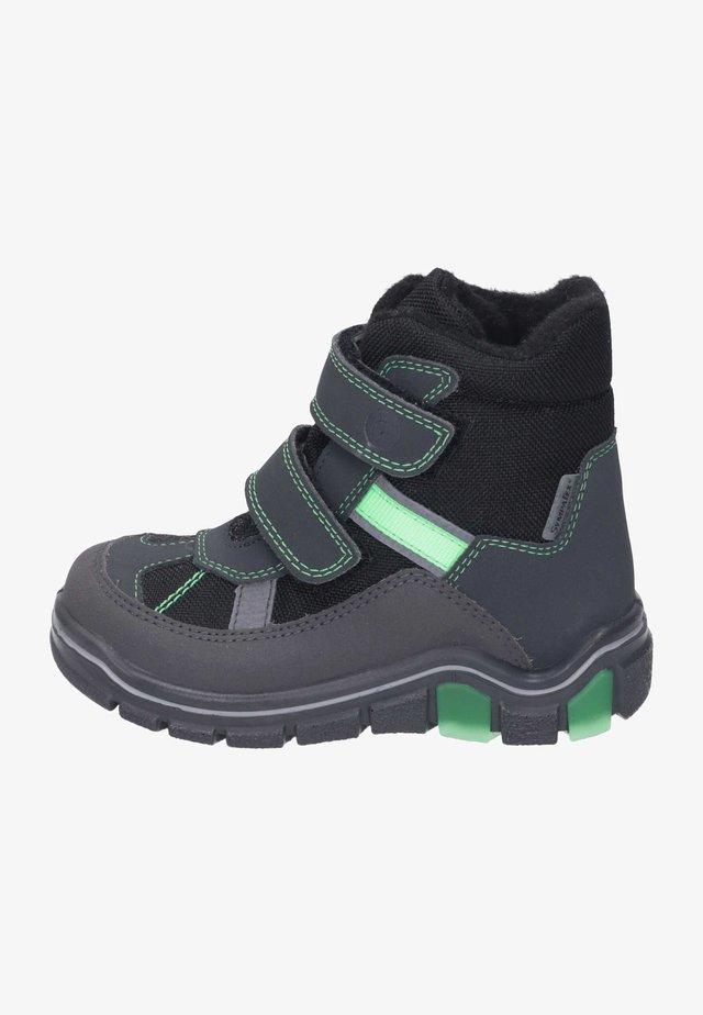 Classic ankle boots - schwarz/grigio/neongrün