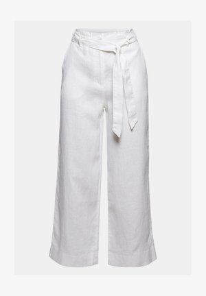 PANT WIDE LEG - Trousers - white