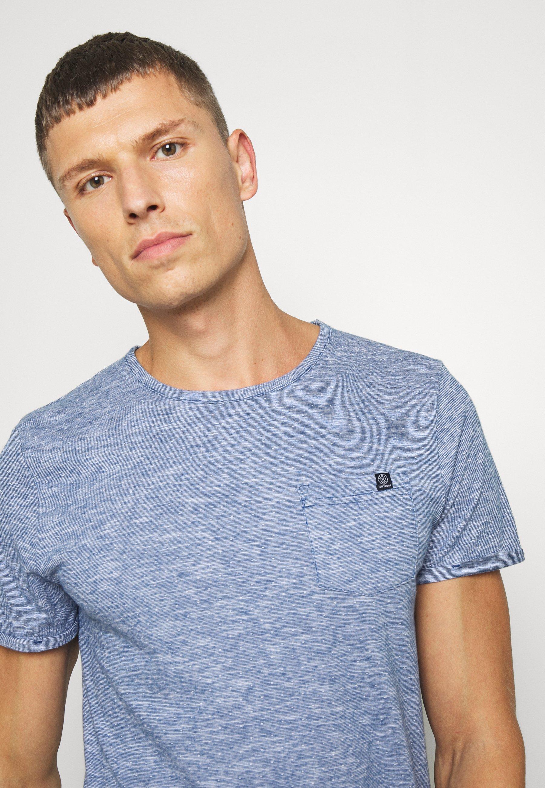 TOM TAILOR WITH CHEST POCKET - Basic T-shirt - blue K9rdJ