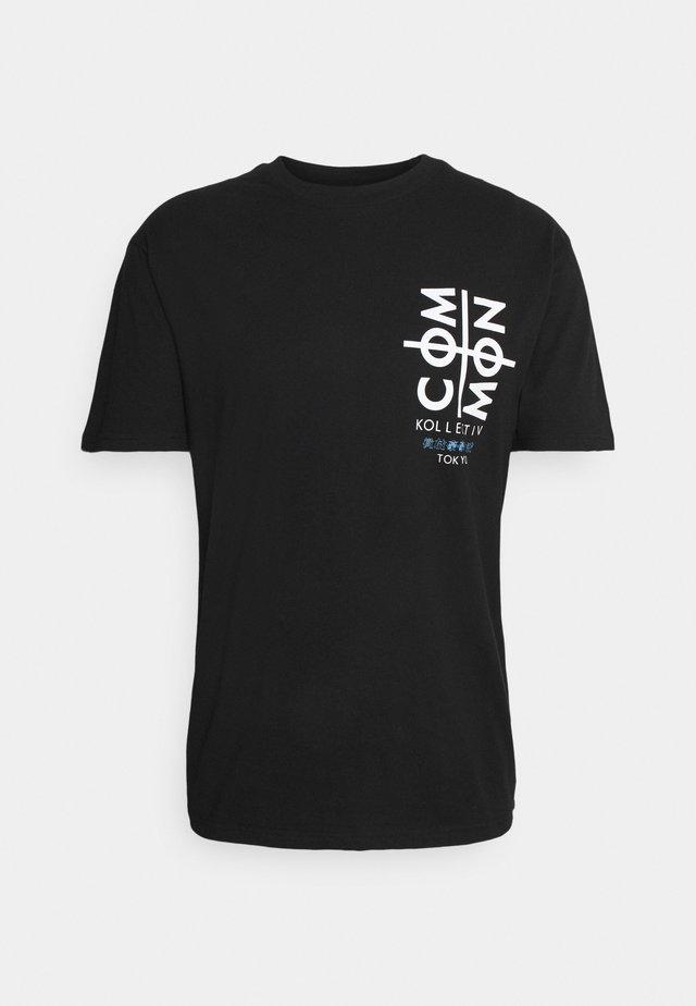 TOKYO UNISEX - T-shirt imprimé - black