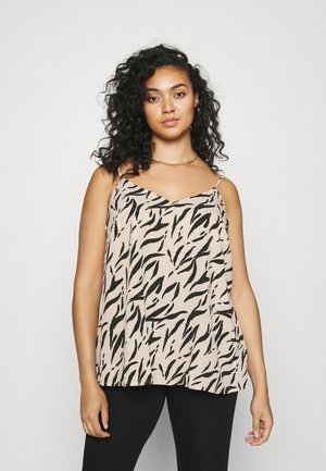 STRAPPY CAMI - Top - oyster/black