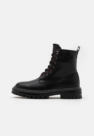BROOK UNISEX - Lace-up ankle boots - black
