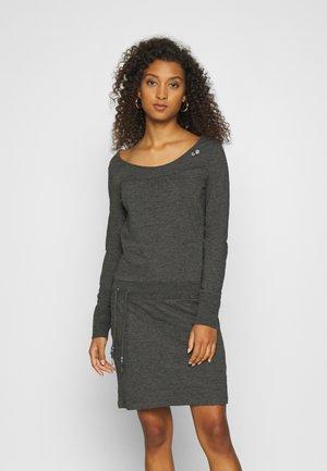PENELOPE - Jersey dress - mottled dark grey