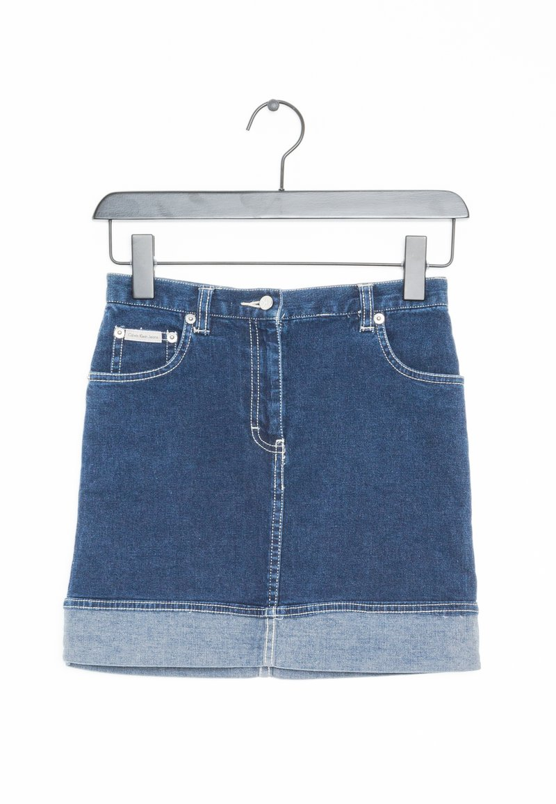 Calvin Klein Jeans - Spódnica jeansowa - blue