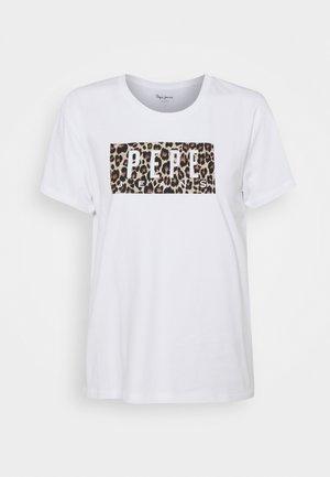 CRISTINAS - Print T-shirt - white