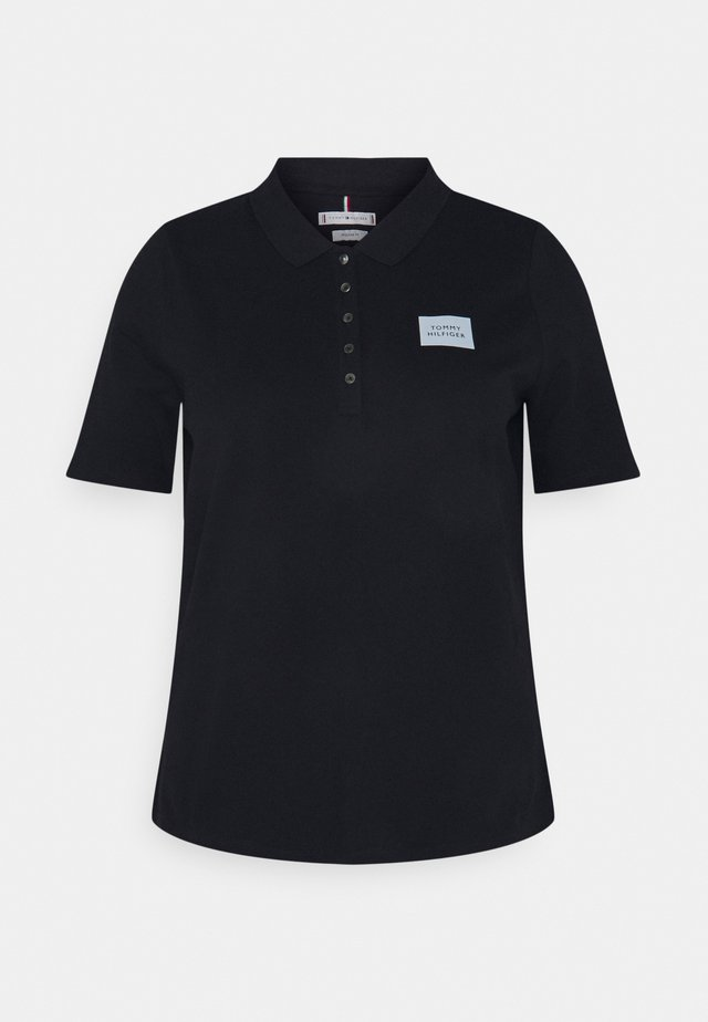 SHORT SLEEVE SLIM BOX - Polo - desert sky