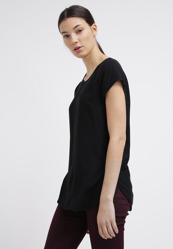 Vero Moda BOCA - Bluzka - black/czarny HNNW