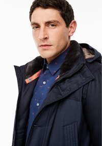 s.Oliver - IM FABRIC MIX - Winter coat - dark blue - 4