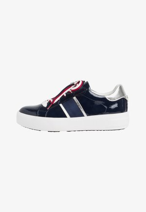 Trainers - navy  patent