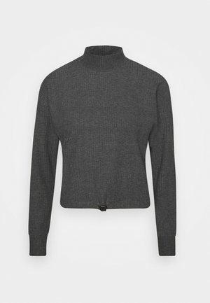 ONLNELLA PULLSTRING CREWNECK - Long sleeved top - dark grey melange