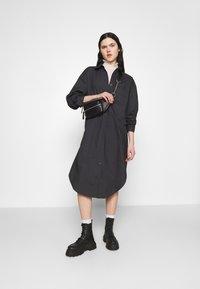 Monki - CAROL DRESS - Shirt dress - grey dark - 1