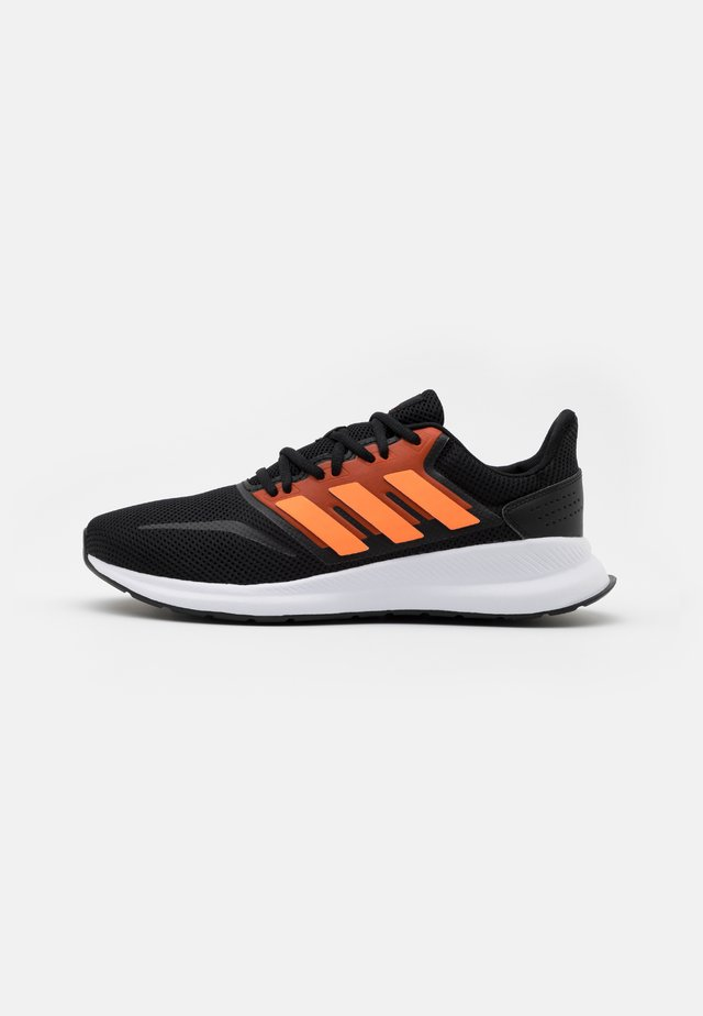 RUNFALCON - Nøytrale løpesko - core black/signal orange/footwear white