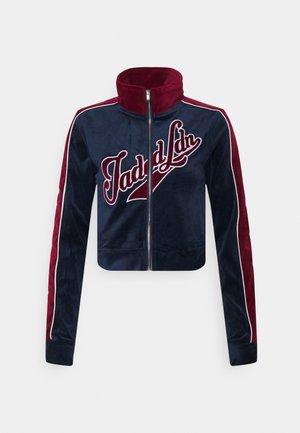 ZIP THROUGH TRACK TOP WITH EMBROIDERY - Zip-up sweatshirt - navy/burgundy
