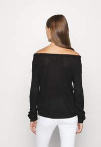 Missguided - OPHELITA OFF SHOULDER JUMPER - Maglione - black - 2