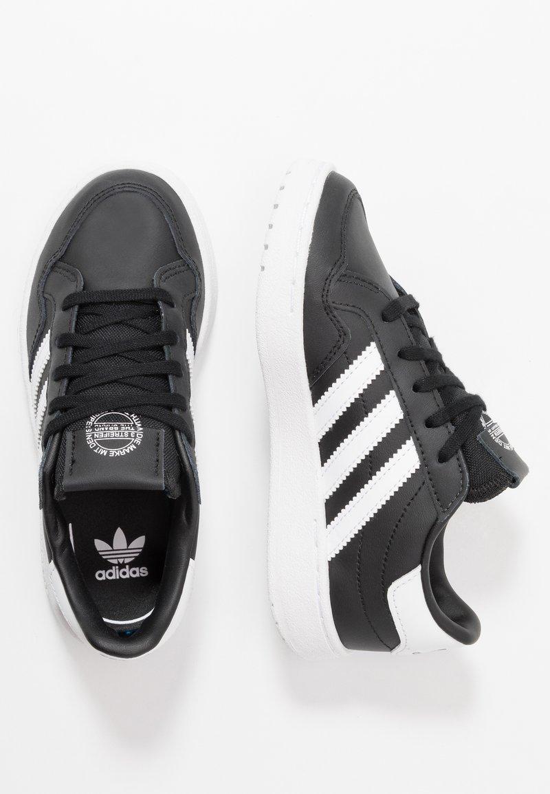 adidas Originals - TEAM COURT - Baskets basses - core black/footwear white/clear black