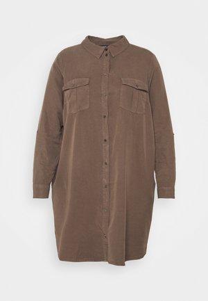 VMSILLA SHORT DRESS MIX - Košilové šaty - khaki