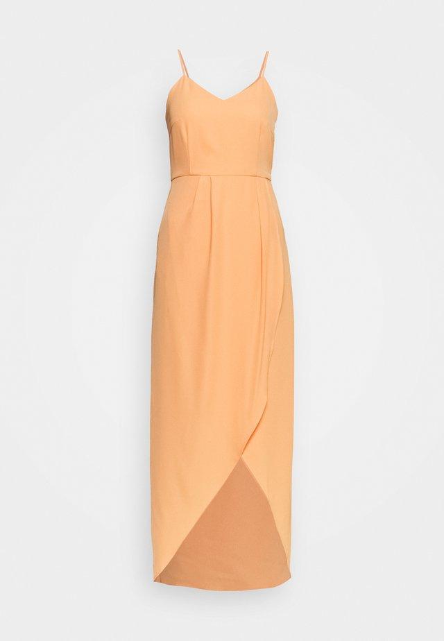 YASVADUZ STRAP DRESS SHOW - Maxi dress - cantaloupe