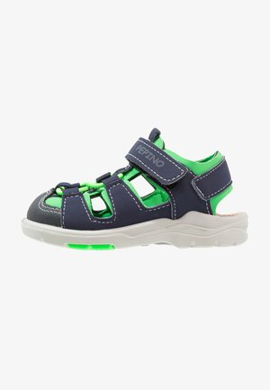 GERY - Walking sandals - nautic/neongreen