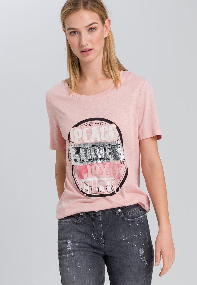 Print T-shirt - powder varied
