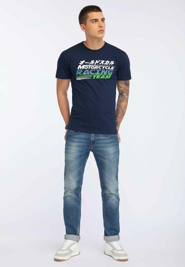 OLDSKULL T-SHIRT PRINT - T-shirt imprimé - navy blue