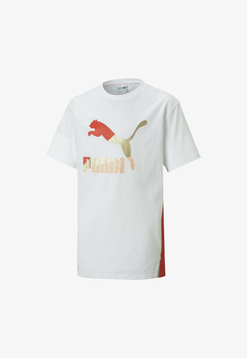 Puma - YOUTH TEE FLICKA - Print T-shirt - puma white