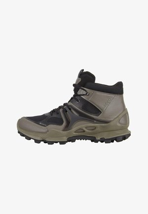 BIOM C-TRAIL M MID GTX - Lace-up ankle boots - warm grey/black