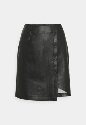 VMZISSY SHORT COATED SKIRT  - Mini skirt - black