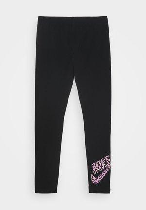 FAVORITE - Legging - black/pink rise
