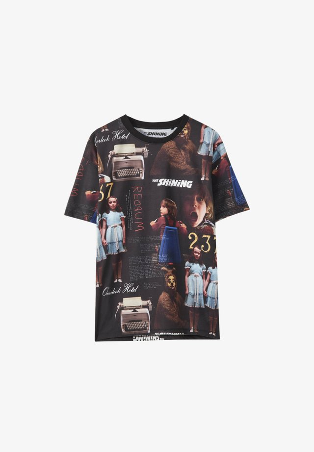 T-shirt imprimé - mottled black