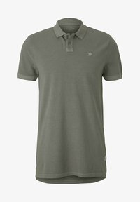 TOM TAILOR DENIM - Polo shirt - greyish shadow olive - 4
