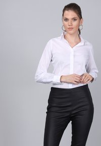 Basics and More - Button-down blouse - white - 2