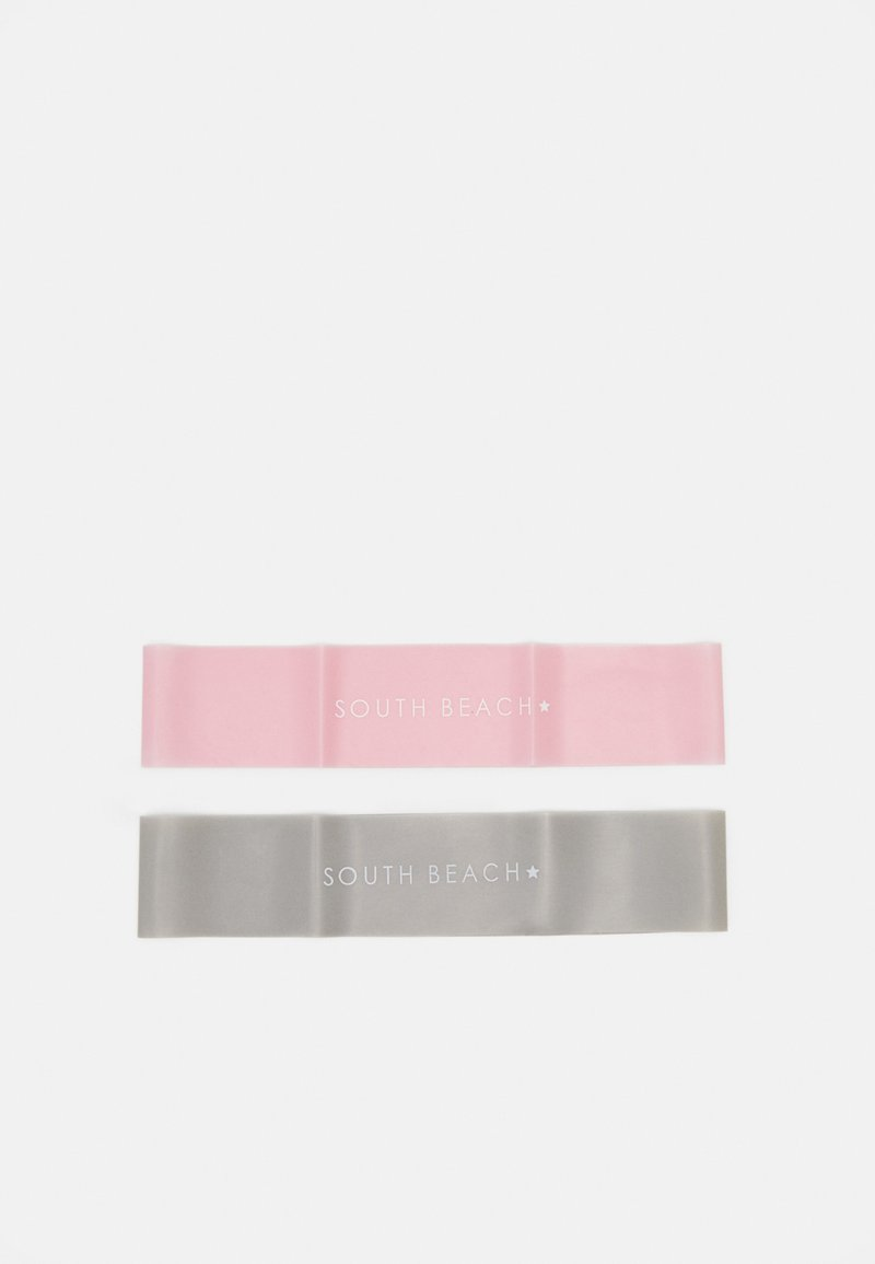 South Beach - RESISTANT BANK 2 PACK - Fitness / Yoga - pink/grey
