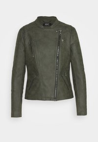 ONLAVA BIKER  - Faux leather jacket - rosin
