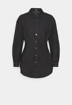 WASHED OVERSIZED BOYFRIEND - Button-down blouse - black