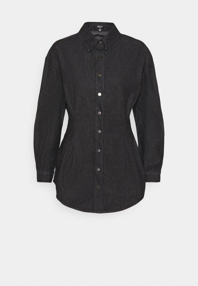 WASHED OVERSIZED BOYFRIEND - Skjortebluser - black