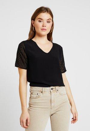 OBJZOE - T-Shirt print - black