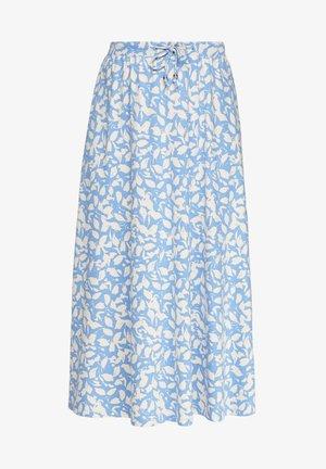 A-line skirt - blue lagoon floral aop