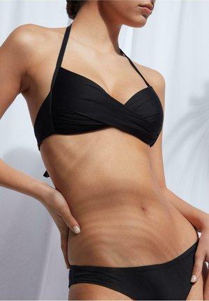 MIT WATTIERUNG INDONESIA ECO - Bikini top - nero