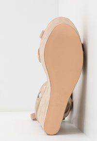 Even&Odd - LEATHER - High heeled sandals - sand - 6