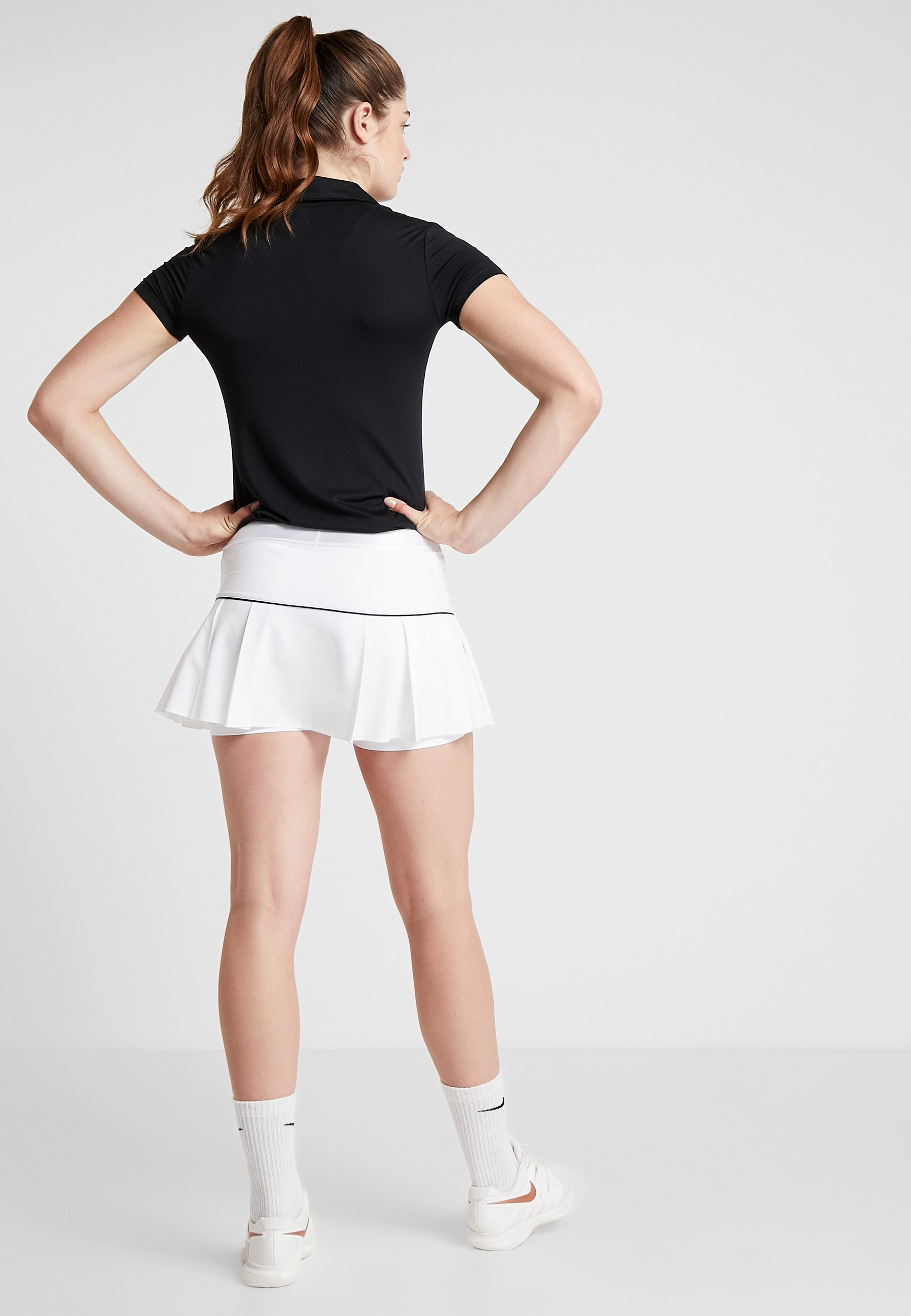 Nike Performance VICTORY SKIRT - Sports skirt - white/black dpcvd